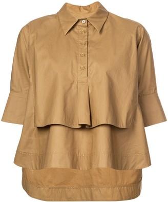 Carven cropped poplin shirt