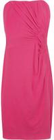 Silk-jersey strapless dress