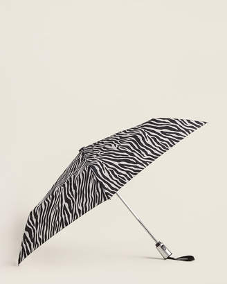 ShedRain Zebra Print Auto Open & Close Umbrella