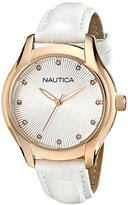Nautica Women's N12657M NCT 18 Mid Analog Display Quartz White Watch