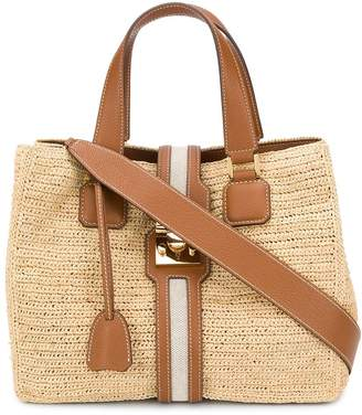 Mark Cross Raffia Tote