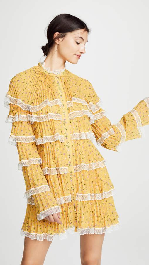 Philosophy di Lorenzo Serafini Tiered Ruffle Floral Dress