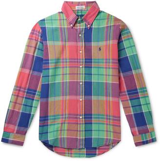 Polo Ralph Lauren Button-Down Collar Checked Cotton Shirt
