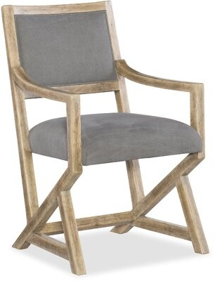 Hooker Furniture Urban Elevation Upholstered Dining Chair in Light Maple (Set of 2