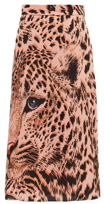 MSGM Leopard-print Midi Skirt - Leopard