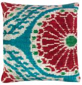 Found Object Hand-Woven Ikat Silk Pillow