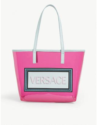 Versace Kids logo-print perspex tote bag