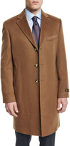Neiman Marcus Cashmere Long Car Coat, Camel