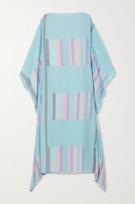 Louisa Parris - Sybil Striped Silk Crepe De Chine Maxi Dress - Blue