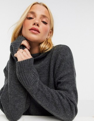 M Lounge ultimate high neck jumper with exposed seams