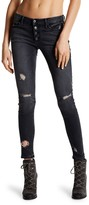 Black Orchid Candice Button Front Skinny Jeans