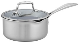 Zwilling J.A. Henckels Zwilling Clad Cfx 2-Qt. Saucepan with Strainer Lid and Pouring Spouts
