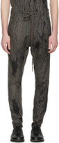 Nude:mm Grey Printed Trousers