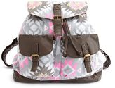Charlotte Russe Geometric Canvas Backpack