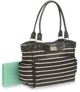 Carter's CA10808 Convertible Tote Diaper Bag Black & White Stripe