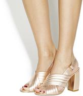 Block Heel Gold Shoes - ShopStyle UK