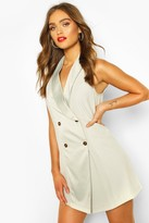 boohoo Occasion Tailored Tux Dress
