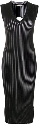 Marco De Vincenzo V-neck ribbed knit dress