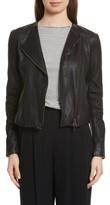 Vince Women's Cross Front Leather Jacket