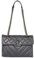 Kurt Geiger London Leather Kensington Crossbody Bag (Grey) Cross Body Handbags