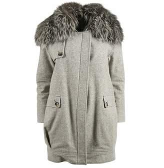 Jenni Kayne Grey Wool Coat for Women
