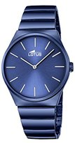 Lotus Men's Quartz Watch with Blue Dial Analogue Display and Blue Stainless Steel Plated Bracelet 18279/2