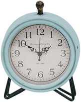 Stratton Home Blue/Black Dixie Table Clock