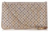Christian Louboutin Loubiposh spike-embellished raffia clutch