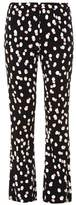 Altuzarra Ross polka-dot stretch-cady flared trousers