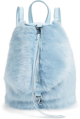 Rebecca Minkoff Faux Fur Convertible Julian Mini Backpack