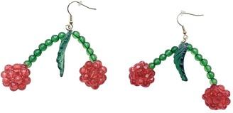 Susan Alexandra Red Plastic Earrings