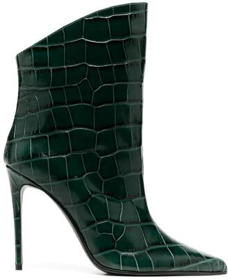 Giuliano Galiano Elise crocodile effect boots