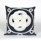 Liora Manné Visions II Ornamental Knot Square Indoor/Outdoor Throw Pillow in Navy