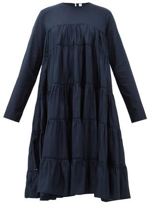 Merlette New York Essaouria Tiered Cotton-lawn Midi Dress - Womens - Navy