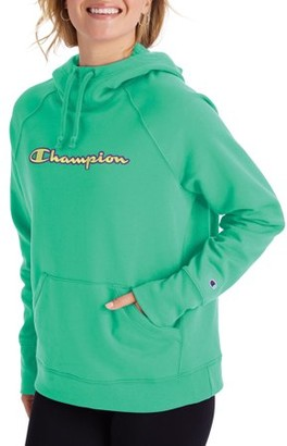 Champion Women's Powerblend Fleece Pullover Hoodie-Applique