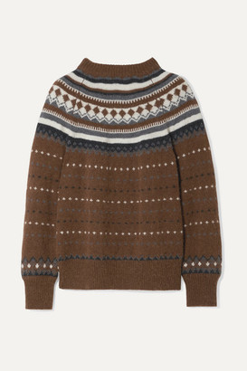RE/DONE 50s Fair Isle Knitted Sweater - Brown