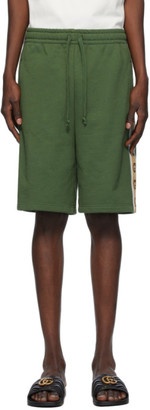 Gucci Green Cotton Jersey Shorts