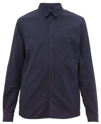 A.P.C. Chicago Brushed Cotton-twill Shirt - Mens - Navy