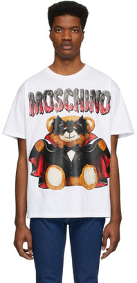 Moschino White Bat Teddy Bear T-Shirt