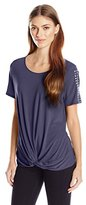 Notations Women's Short-Sleeve Top with Heat Seal At Shoulder