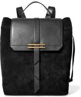 Iris and Ink Jane Leather-Paneled Nubuck Backpack