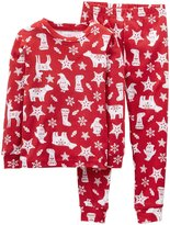 Carter's 2 Piece Holiday PJ Set (Baby) - Reindeer-24 Months