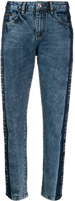 Philipp Plein Logo Panelled Straight-Leg Jeans