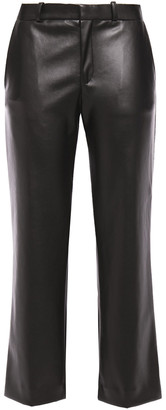 Each X Other Cropped Faux Leather Straight-leg Pants