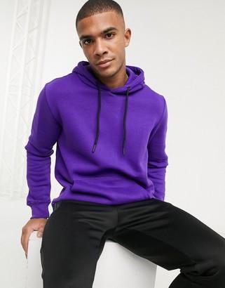 Bershka hoodie in violet