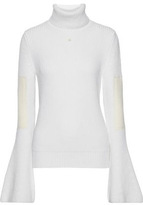 Lanvin Appliqued Ribbed Wool Turtleneck Sweater