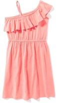 Old Navy One-Shoulder Cinched-Waist Dress for Girls