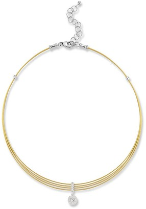 Alor 18K Gold, Stainless Steel Diamond Necklace