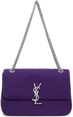 Saint Laurent Purple Wool Medium Jamie Bag