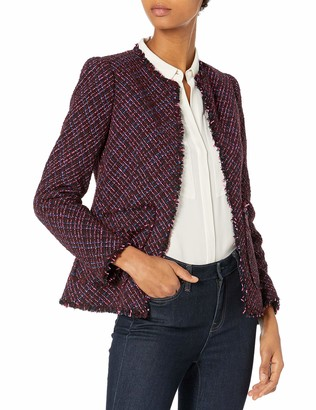Rebecca Taylor Women's Long Sleeve Multi Tweed Jacket